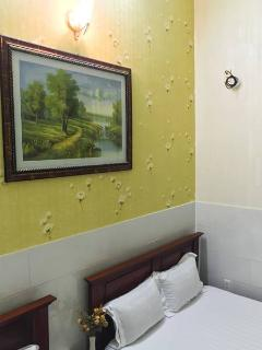 Wall decorded with wall paper and picture
