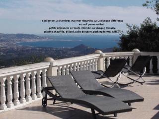Chambres d'hôtes Estérel vue mer baie de Cannes et montagnes