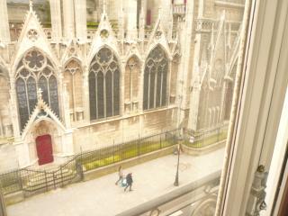 3 bedroom property : Plunging view on Notre-Dame, París