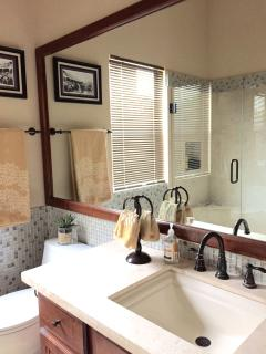 Guest bathroom, recently renovated.