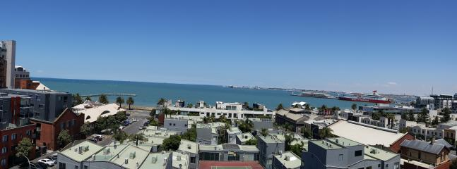 Panorama looking south in this spacious, Port Melbourne, two bedroom sub-penthouse apartment