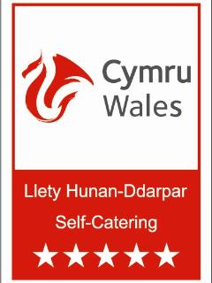 Awarded 5* by the Welsh Tourist board January 2016