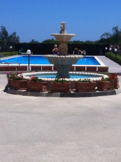 Shared private pool, sun loungers included in rental