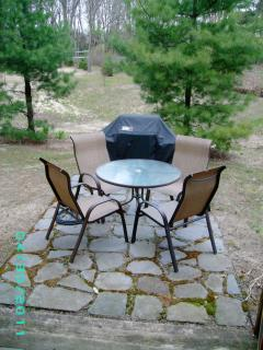 Patio with Weber Gas Grill