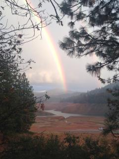 Winter Rainbow from deck.