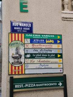 Ceret restaurants, bars and artisanal shops.