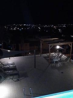 Views by the night from the houses