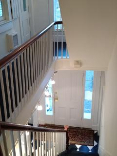 Second floor hall and stair.