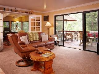 Living Room with double sliding doors to let in that summer breeze