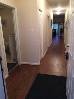 Entry Hall.  Laminate wood flooring throughout.  New carpet in bedroom Februay 2018!