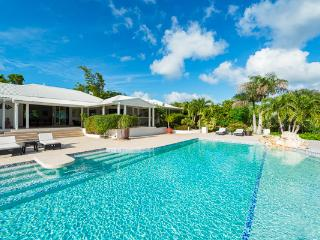 Take in the views of Simpson Bay and the Sea from this villa's enlarged pool and deck. C SLU, Terres Basses