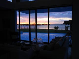 View from the living room - stunning sunsets at Villa Santé