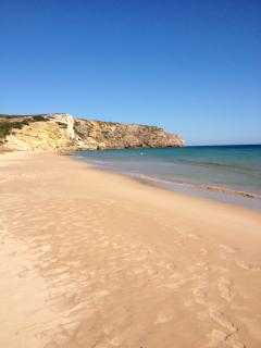 Salema Beach - Soft, Sandy Blue Flag. Just 5 mins walk down the road.