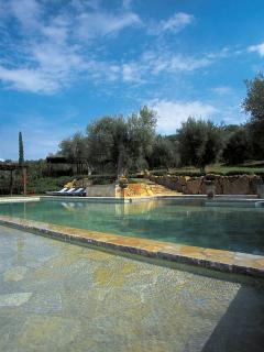 Beautiful poolside terrace