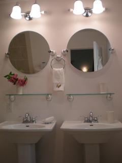 Double vanities in master ensuite bath