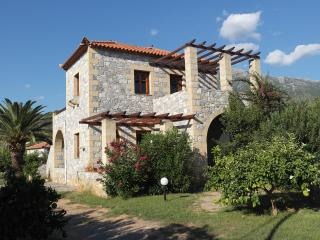 Villa Estia a traditional two stored  stone house, Stoupa