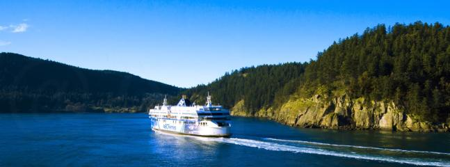 Your holiday starts on the ferry with the gorgeous trip  through Georgia Strait and the Gulf Islands