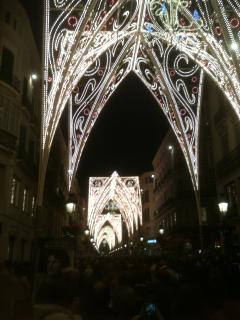 Christmas lights in Malaga, a lovely city to explore