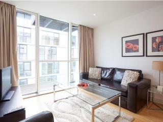 Times Square 1B apartment in Tower Hamlets with WiFi, balkon & lift., Londen