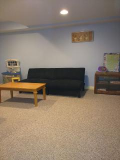 Futon in finished basement
