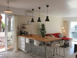 5 min from Nice Promenade: 2 beds flat, ac, pool