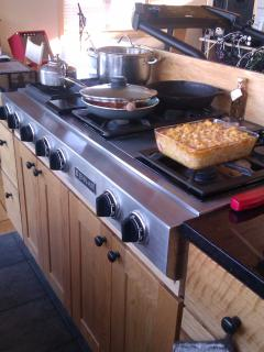 Jennair stove top with grill.  Mac & Cheese not included!