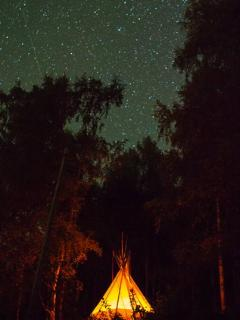 You can also rent our Teepee, it has space for five people.