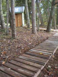 Walkway from cottage