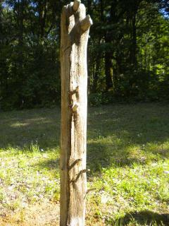 Hitching post in case you need one! Works good for shower bag to get warm.