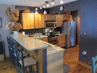 kitchen with new granite and appliances