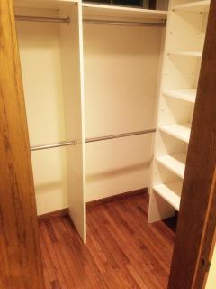2F: Bedroom, plenty of closet space for storage!