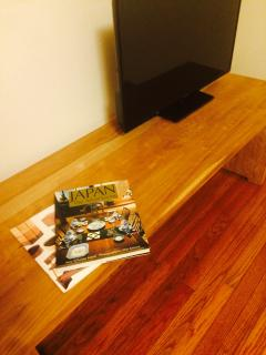 2F: Bedroom - Solid Black Cherry Table / TV.