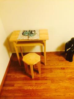 2F: Bedroom, White Oak Shaker Side Table.