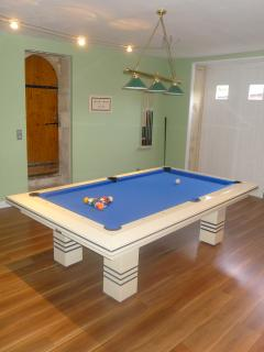 Pool table in the annex