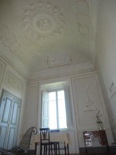 Detail of the fresco on the ceiling in The-Ladies-Retreat's living room