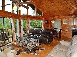 Open Living Room & Dining Room. Now With A New Log & Barnwood Table Which Seats 7 People.