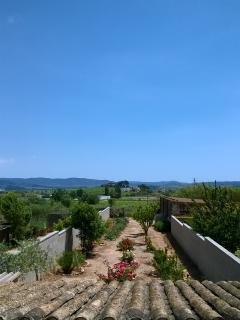 jardín, vista desde la terraza