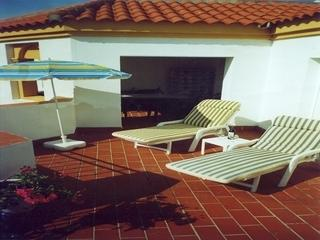 Very large sunny S/West facing terrace - shaded room for eating al fresco.Also has outside shower.