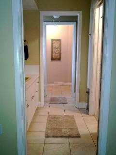 Master Bath and Closet with private office area.