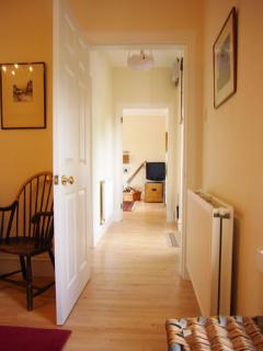 Entrance and hallway to rooms