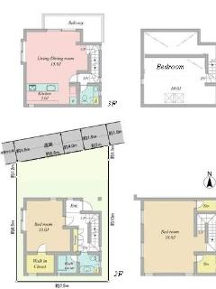 Complete layout of the house in the beautiful area of Azabu! First floor room pictures follow:
