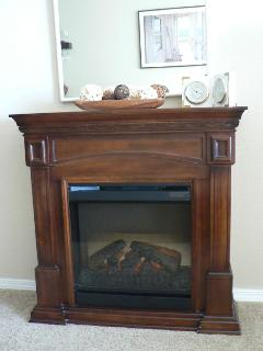 Great Fireplace to add to the Ambiance of the Room.