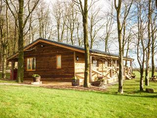 VALLEY VIEW LODGE, log cabin, panoramic views, en-suite, in Welshpool, Ref 932499