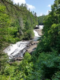 Don't miss Triple Falls in Dupont, a great picnic spot!