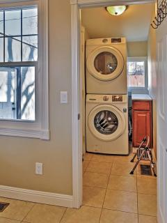 A washer and dryer are available for your laundry needs.