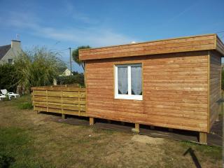 maison bord de mer avec chambre exterieure en bois
