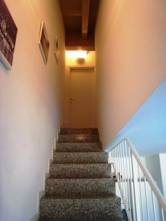 Internal staircase leading up to the bedrooms and main bathroom