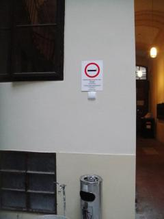 No smoking inside , Designed smoking area outside of the apartment ( 3 meters from apartment door).