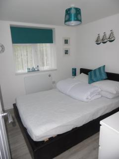 2nd bedroom, also double bed. Linen, optional extra @ £15 per set.