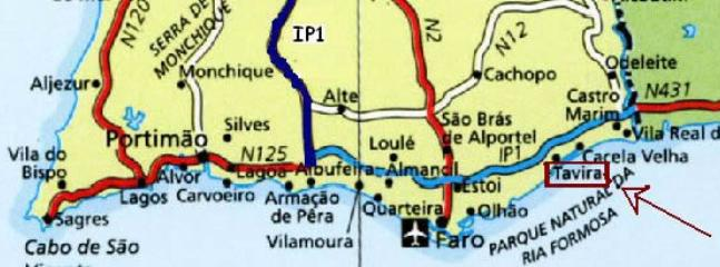 Algarve! Vous êtes à droite, bonnes vacances!